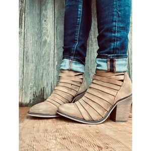FREE PEOPLE hybrid strappy distressed ankle bootie